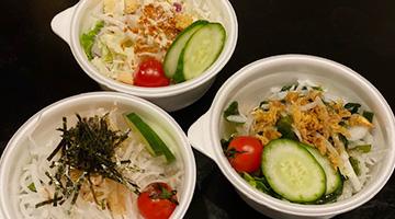 各丼ぶり、カレーに付けれるフレッシュカップサラダ3種