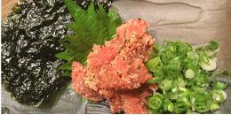 炙り明太子と韓国海苔