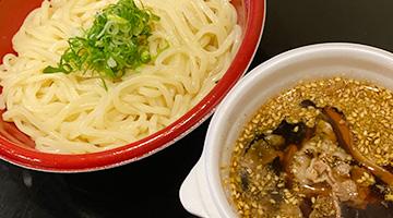 しぐれ煮と生海苔の和風つけ麺